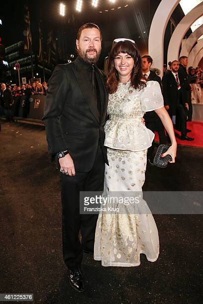 Rea Garvey and his wife Josephine arrive at the Bambi Awards 2014 on November 13, 2014 in Berlin, Germany.