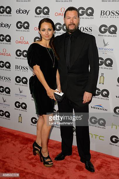 Rea Garvey and his wife Josephine arrive at the GQ Men of the Year Award 2014 at Komische Oper on November 6, 2014 in Berlin, Germany.