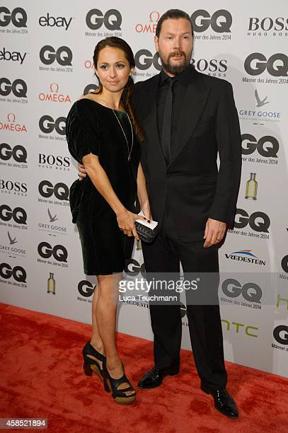 Rea Garvey and his wife Josephine arrives at the GQ Men of the Year Award 2014 at Komische Oper on November 6, 2014 in Berlin, Germany.