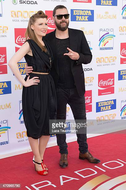 Rea Garvey and his wife Josephine attends the Radio Regenbogen Award 2015 on April 24 , 2015 in Rust, Germany.