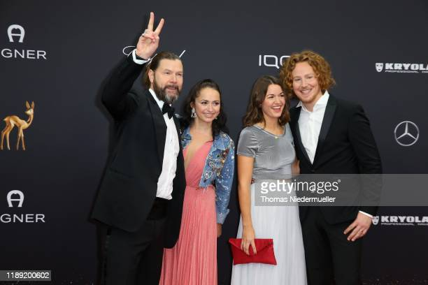 Rea Garvey and wife Josephine and Michael Schulte and partner Katharina attend the 71st Bambi Awards at Festspielhaus Baden-Baden on November 21,...
