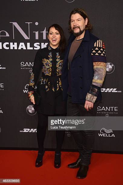 Rea Garvey and wife Josephine arrive for the Michalsky Style Night during Mercedes-Benz Fashion Week Autumn/Winter 2014/15 at Tempodrom on January...