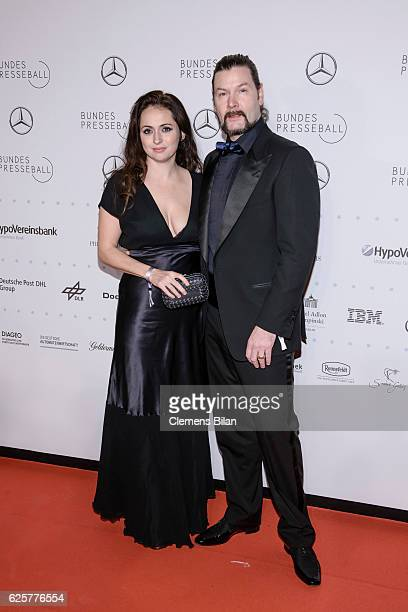 Rea Garvey and wife Josephine attend the 65th Bundespresseball at Hotel Adlon on November 25 2016 in Berlin Germany