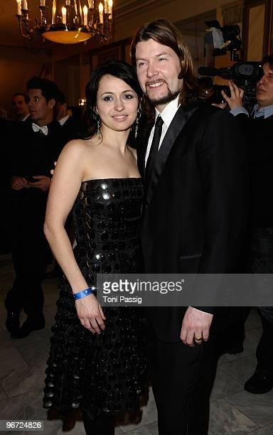 Rea Garvey and wife Josephine attend the Annual Cinema For Peace Gala during day five of the 60th Berlin International Film Festival at the...