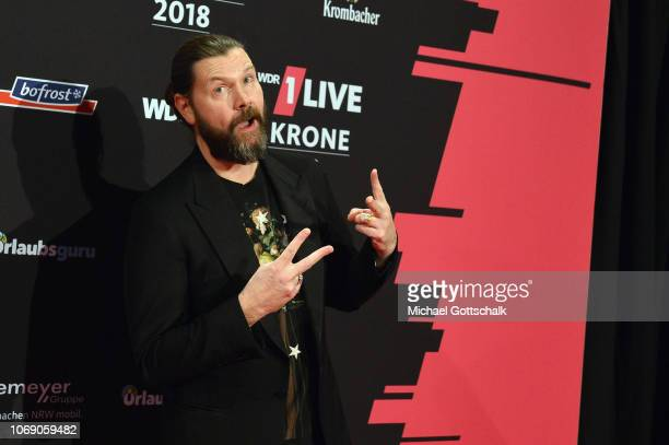 Rea Garvey attends the 1Live Krone radio award at Jahrhunderthalle on December 6 2018 in Bochum Germany
