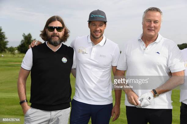 Rea Garvey Michael Ballack and Juergen B Harder attend the 10th GRK Golf Charity Masters on August 19 2017 in Leipzig Germany