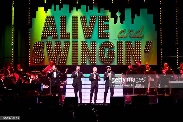 Rea Garvey Sasha Michael Mittermeier and Xavier Naidoo perform live during the Show 'Alive ad Swingin' at the Tempodrom on March 27 2017 in Berlin...