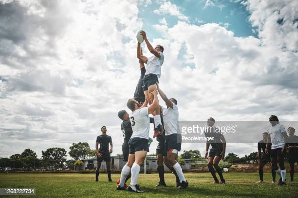 reach for the sky - rugby stock pictures, royalty-free photos & images