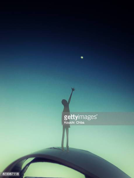 reach for the stars - kouichi chiba stock photos and pictures