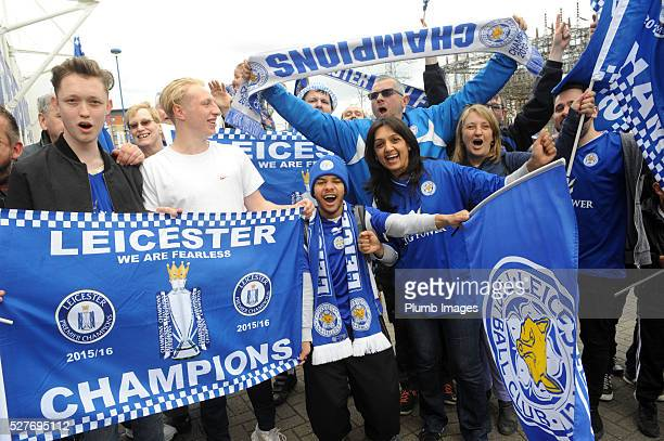 Reactions to Leicester City's Premier League Title Success on May 3 2016 in Leicester United Kingdom