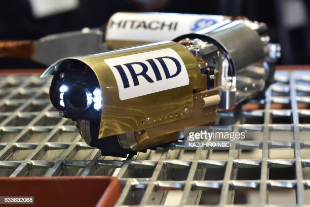 A reactor probe robot PMORPH with five cameras and a radiation dosimeter developed by HitachiGE Nuclear Energy and the International Research...