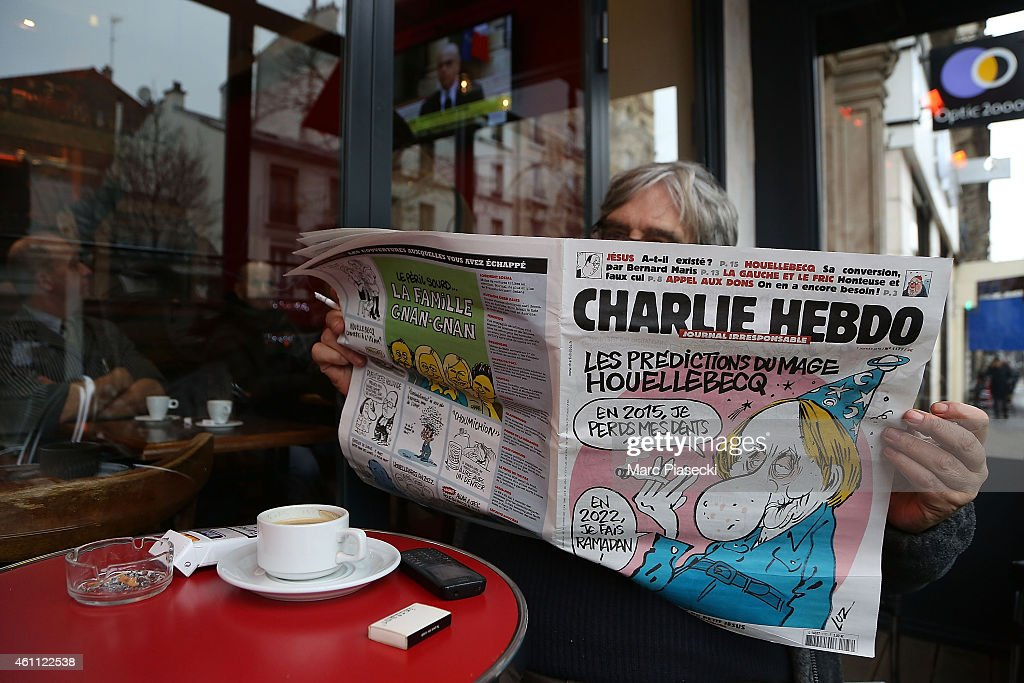 Deadly Attack On French Satirical Magazine Charlie Hebdo In Paris : News Photo