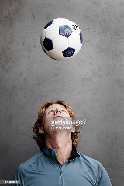 Readhead playing with a ball with his head