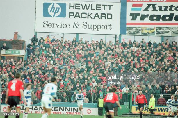 Reading 0-3 Manchester United, FA Cup 4th Round match at Elm Park, Saturday 27th January 1996.