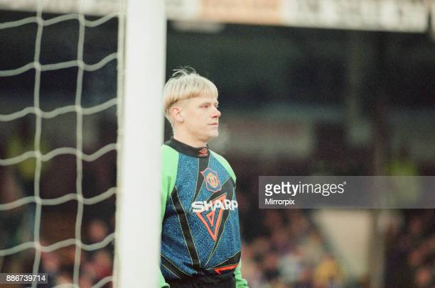 Reading 0-3 Manchester United, FA Cup 4th Round match at Elm Park, Saturday 27th January 1996. Pictured, Peter Schmeichel.