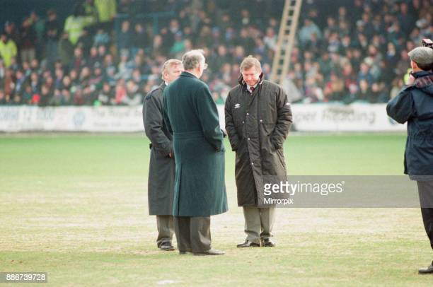 Reading 03 Manchester United FA Cup 4th Round match at Elm Park Saturday 27th January 1996 Pre match scenes pictured Alex Ferguson