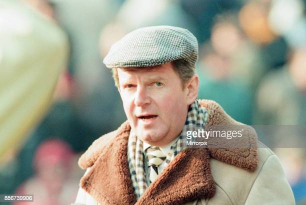 Reading 0-3 Manchester United, FA Cup 4th Round match at Elm Park, Saturday 27th January 1996. Pictured, John Motson, BBC Sports Commentator.