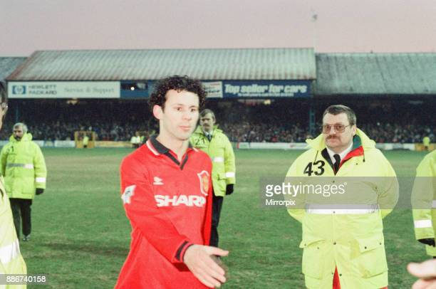Reading 0-3 Manchester United, FA Cup 4th Round match at Elm Park, Saturday 27th January 1996. Pictured, Ryan Giggs.