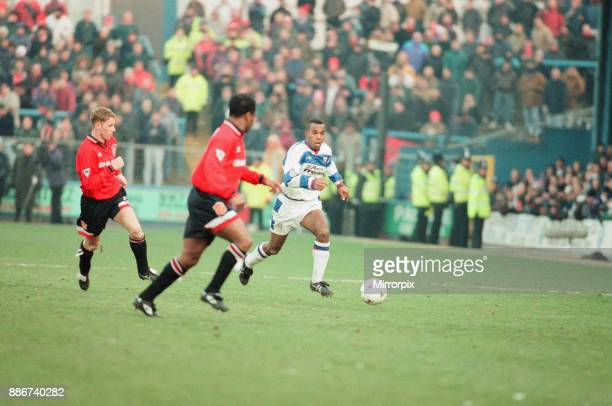Reading 0-3 Manchester United, FA Cup 4th Round match at Elm Park, Saturday 27th January 1996. Pictured, Nicky Butt, Paul Parker.