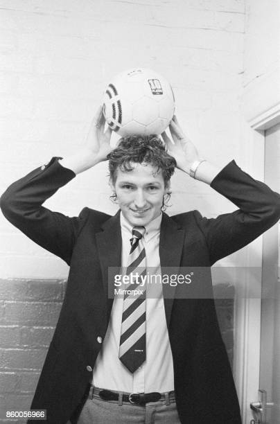 Reading 4-2 Chesterfield, Division Three match at Elm Park, Wednesday 2nd October 1985. Hat trick hero Trevor Senior with match ball.
