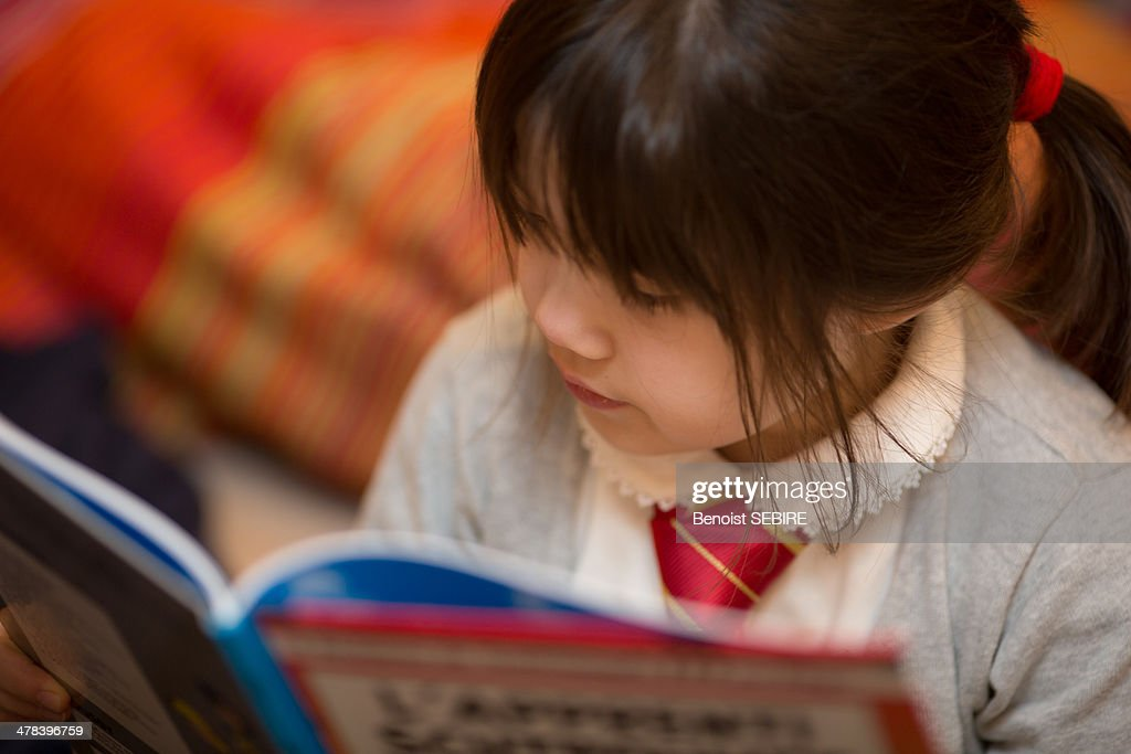 Reading a book : Stock Photo