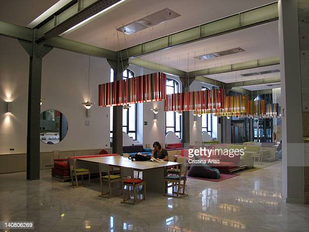 Reading area meeting and rest inside the Palacio de Cibeles Madrid City Council after the restoration carried out since 2007 by the architect...