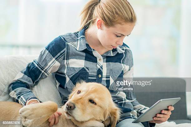 Reading at Home with a Dog