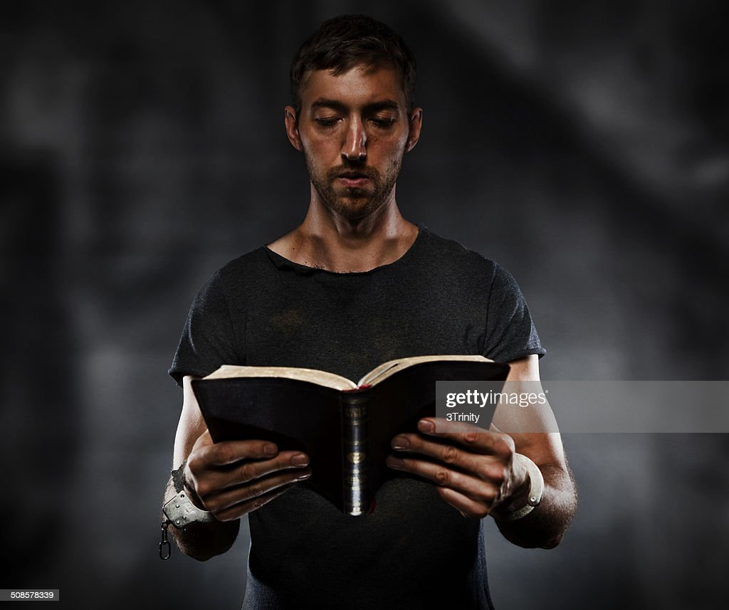 Reading Bible : Stock Photo