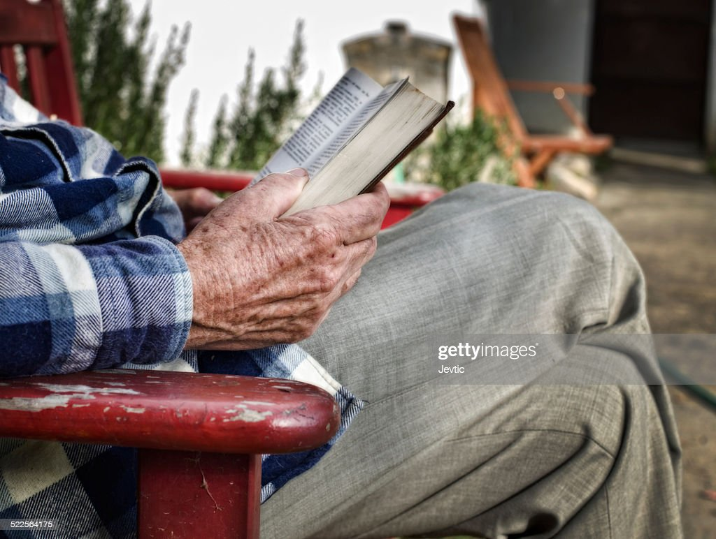 Reading book : Stock Photo
