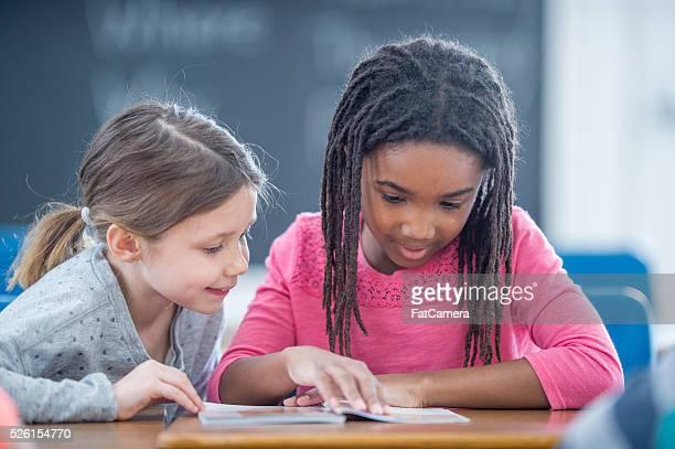 Reading Buddies at School