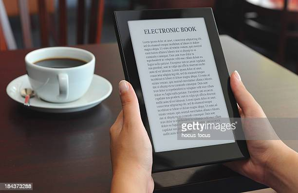 reading E-book on e-reader