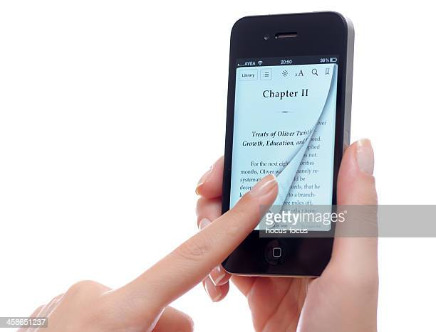Reading e-book with iPhone