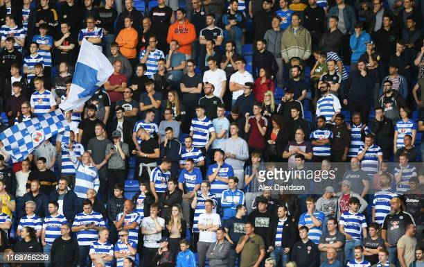 Reading fans during the Sky Bet Championship match between Reading and Cardiff City at Madejski Stadium on August 18, 2019 in Reading, England.