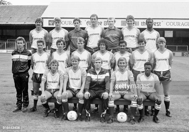 Reading FC 1986 / 1987 Season Photocall Elm Park 21st August 1986 Paul Canoville Back Row Far Right