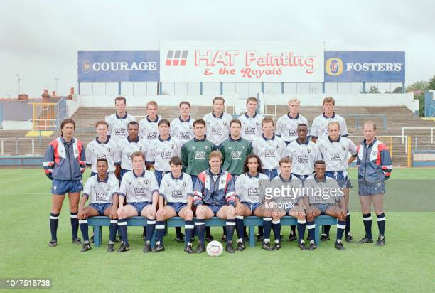 Reading FC 1991/92 preseason photocall at Elm Park Tuesday 6th August 1991 picture shows top row 2nd left Brendan Rodgers defender aged 18 years old