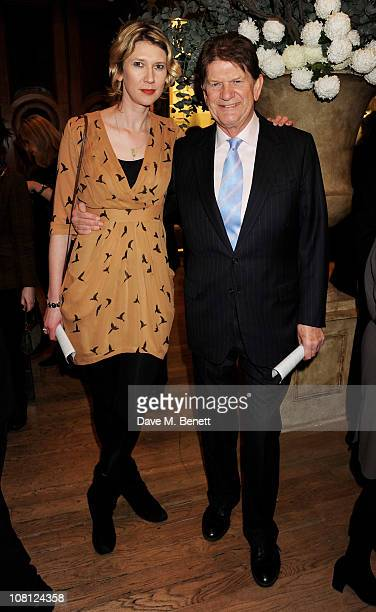 Reading FC Chairman Sir John Madejski and daughter Helen Morris attend a private viewing of Modern British Sculpture at the Royal Academy of Arts on...