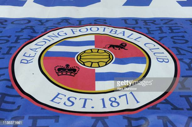 Reading FC flag covers seats prior to the Sky Bet Championship match between Reading and Leeds United at Madejski Stadium on March 12 2019 in Reading...