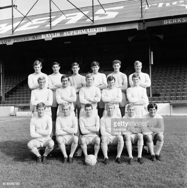 Reading FC Football Team Pre Season Photocall August 1968 Left To Right TOP Peter Sylvester Rod Thornhill Mike Dixon Ray Dean Roy Brown and Colin...