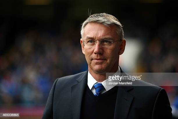 Reading FC Manager Nigel Adkins looks on during the Sky Bet Championship match between Ipswich Town and Reading at Portman Road on January 25 2014 in...