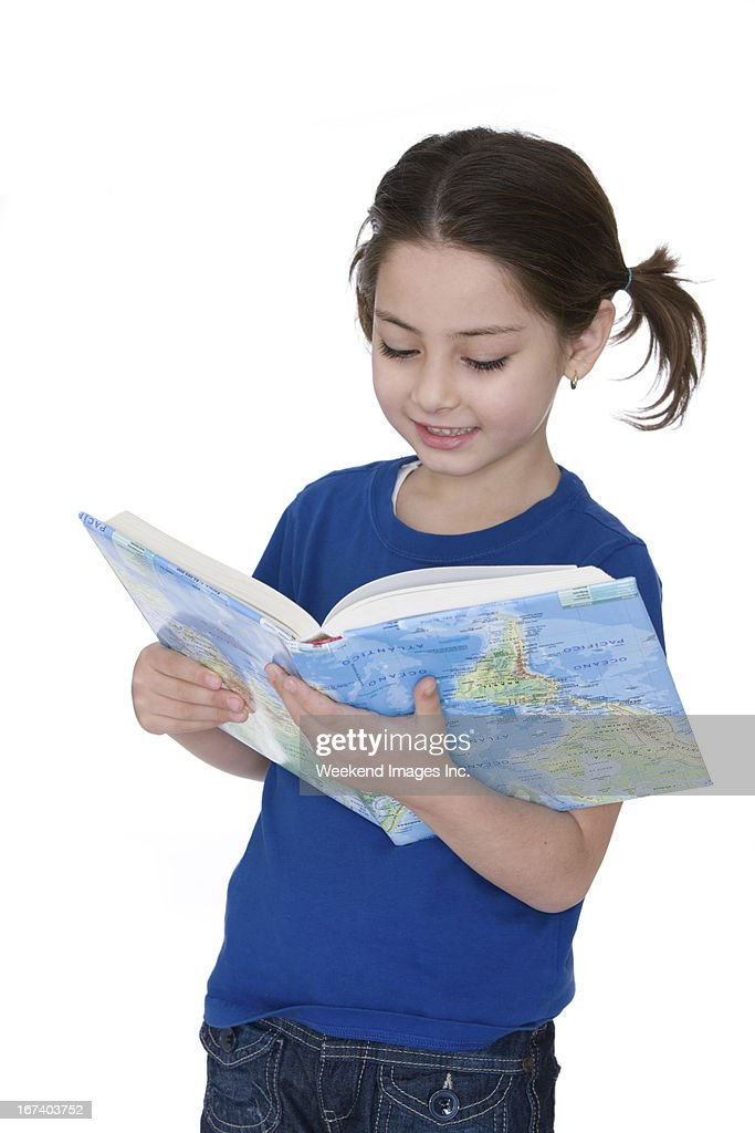 Reading girl : Stock Photo