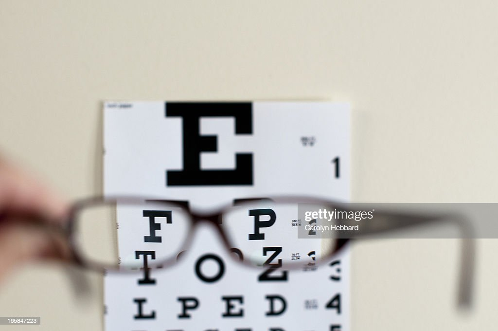 Reading Glasses And Eye Chart Stock Photo Getty Images