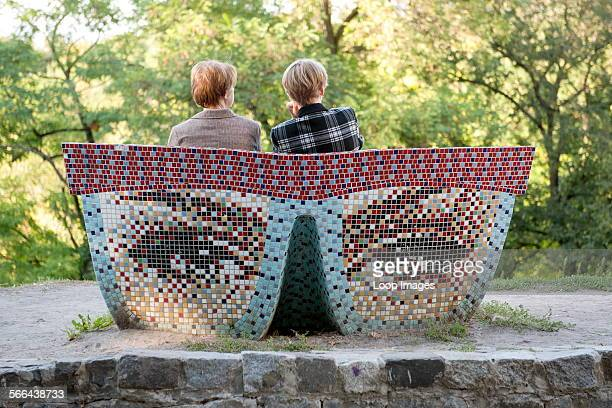 Reading Glasses which is a park bench installation in Landscape Alley and part of Kiev Fashion Park.