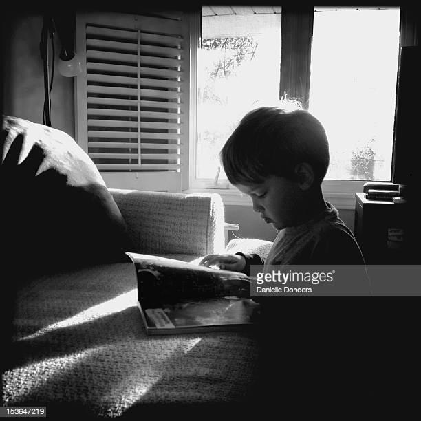 Reading in window light