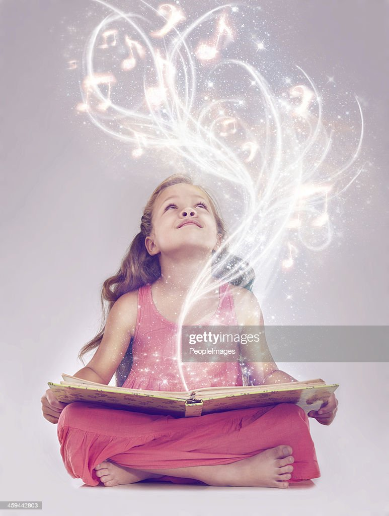 Reading is the key to a whole other world : Stock Photo