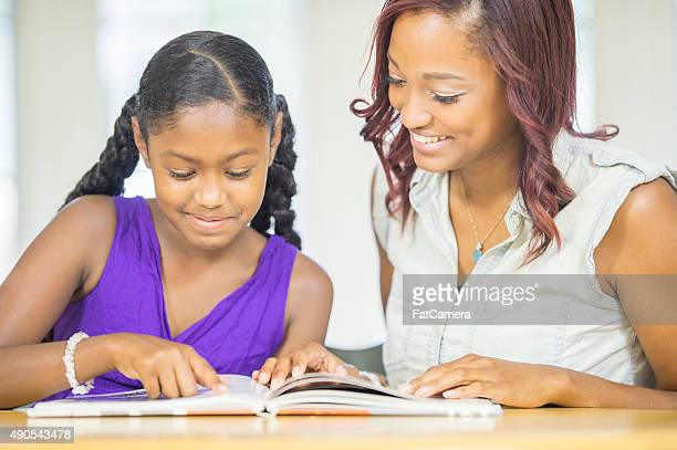 Reading Lesson During Homeschool