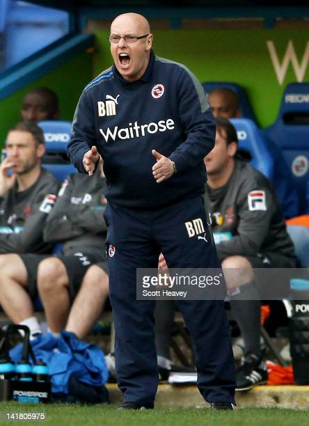 Reading manager Brian McDermott during the npower Championship match between Reading and Blackpool at Madejski Stadium on March 24 2012 in Reading...