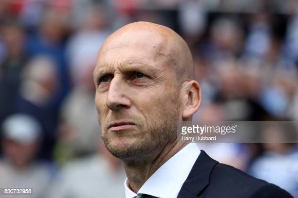 Reading manager Jaap Stam before the Sky Bet Championship match between Reading and Fulham at Madejski Stadium on August 12 2017 in Reading England