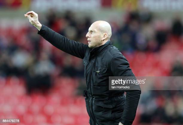 Reading manager Jaap Stam during the Sky Bet Championship match between Sunderland and Reading at Stadium of Light on December 2 2017 in Sunderland...