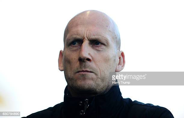 Reading manager Jaap Stam during the Sky Bet Championship match between Bristol City and Reading at Ashton Gate on January 2 2017 in Bristol England