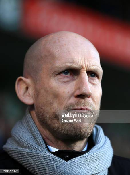 Reading Manager Jaap Stam during the Sky Bet Championship match between Ipswich Town and Reading at Portman Road on December 16 2017 in Ipswich...